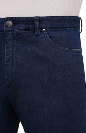 Мужские джинсы PAUL&SHARK темно-синего цвета, арт. C0P4009R/DUI   Фото 5