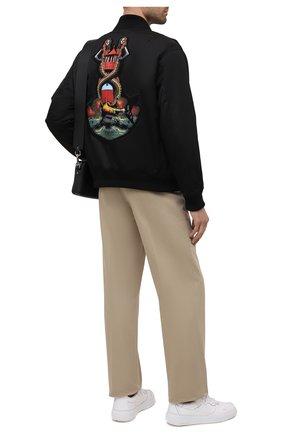 Мужской утепленный бомбер BURBERRY черного цвета, арт. 8040669 | Фото 2
