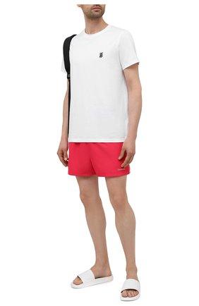 Мужские плавки-шорты CALVIN KLEIN розового цвета, арт. KM0KM00567 | Фото 2