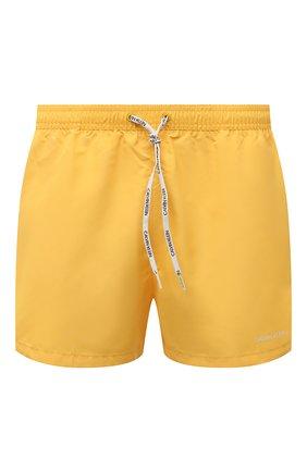 Мужские плавки-шорты CALVIN KLEIN желтого цвета, арт. KM0KM00567 | Фото 1