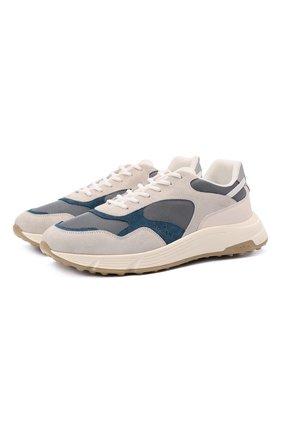 Мужские комбинированные кроссовки HOGAN разноцветного цвета, арт. HXM5630DM90QDG | Фото 1