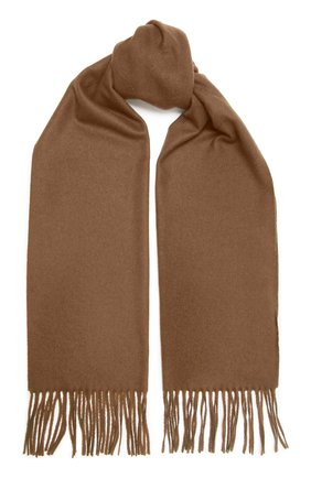 Мужской шерстяной шарф KITON коричневого цвета, арт. USCIACX0296A | Фото 1
