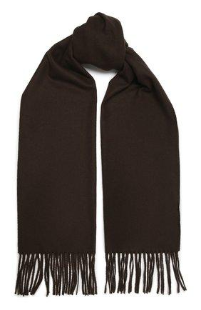 Мужской шерстяной шарф KITON темно-коричневого цвета, арт. USCIACX0296A | Фото 1