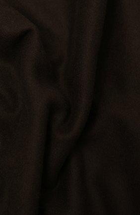 Мужской шерстяной шарф KITON темно-коричневого цвета, арт. USCIACX0296A | Фото 2