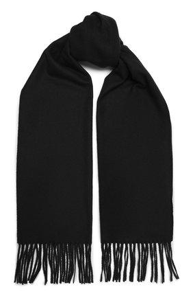 Мужской шерстяной шарф KITON черного цвета, арт. USCIACX0296A | Фото 1