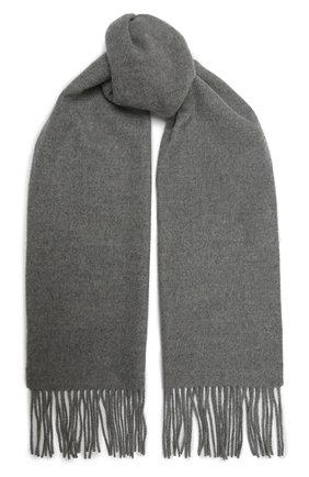 Мужской шерстяной шарф KITON серого цвета, арт. USCIACX0296A | Фото 1