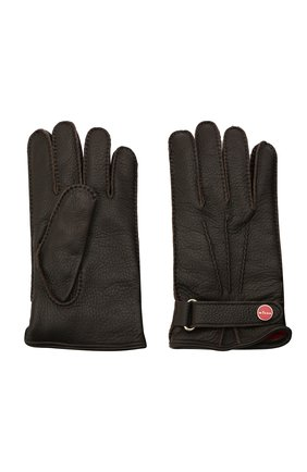 Мужские кожаные перчатки KITON темно-коричневого цвета, арт. UGU023X02T19 | Фото 2