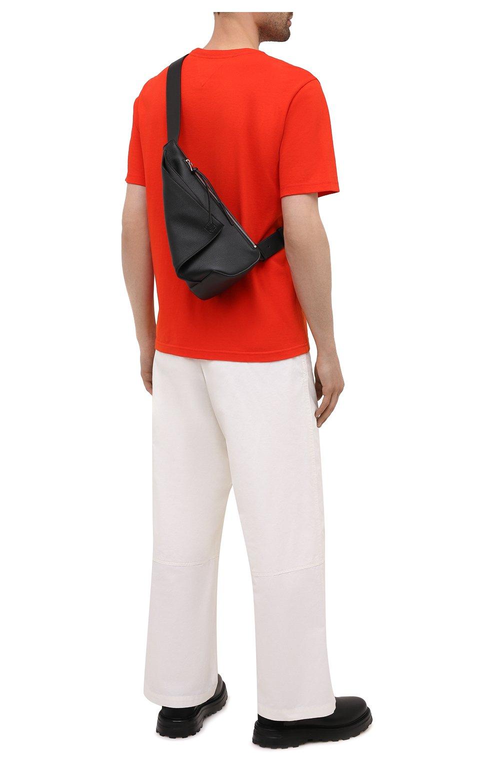 Мужской кожаный рюкзак anton LOEWE черного цвета, арт. B511A09X06 | Фото 2