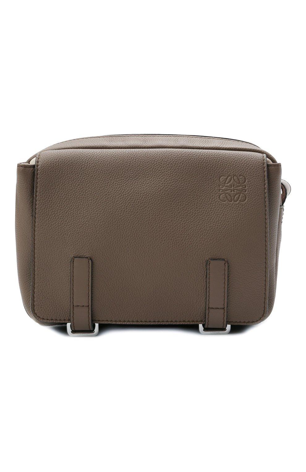 Мужская кожаная сумка xs military LOEWE светло-коричневого цвета, арт. 317.12AA72   Фото 1