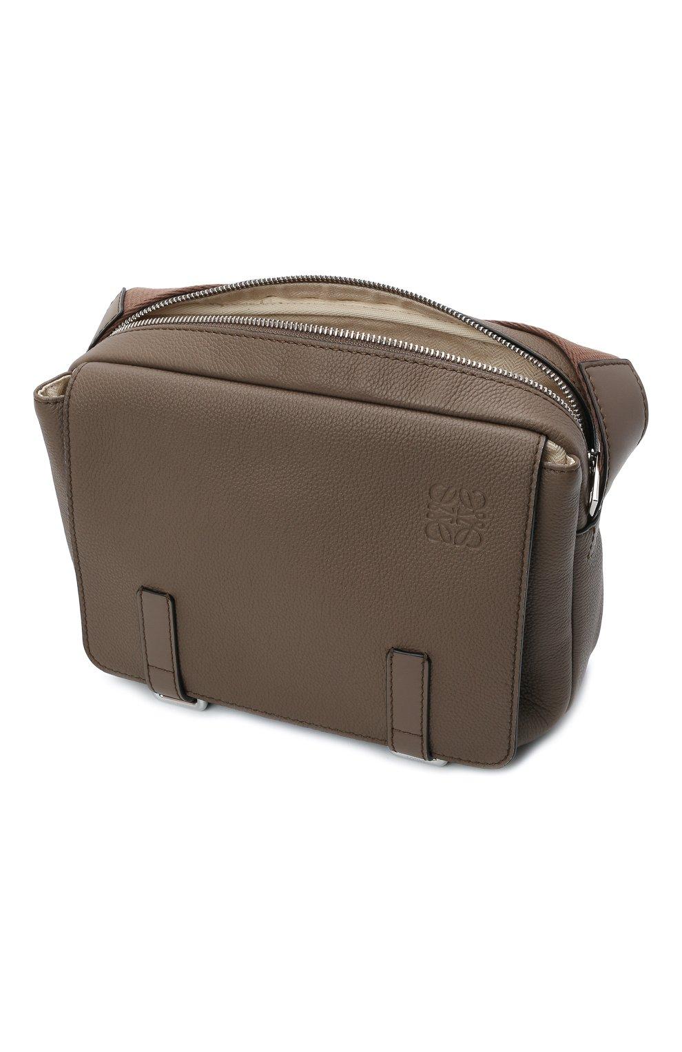 Мужская кожаная сумка xs military LOEWE светло-коричневого цвета, арт. 317.12AA72   Фото 4