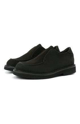 Детские кожаные туфли MONTELPARE TRADITION черного цвета, арт. MT20060/M0RBID0NE/28-35 | Фото 1