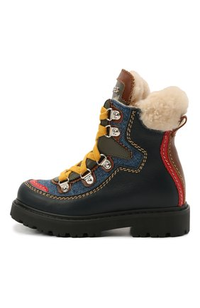Детские кожаные ботинки DSQUARED2 темно-синего цвета, арт. 68591/KIPS/S0FTY/DENIM/S0FTY/18-27 | Фото 2