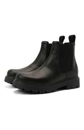 Детские кожаные ботинки DSQUARED2 черного цвета, арт. 68584/RUNNER/36-41 | Фото 1