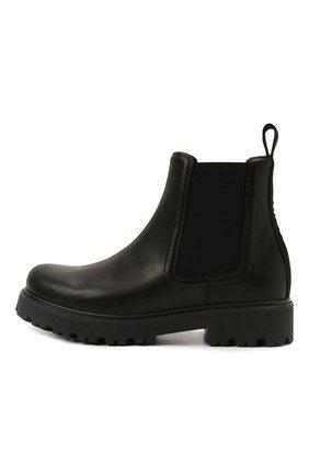 Детские кожаные ботинки DSQUARED2 черного цвета, арт. 68584/RUNNER/36-41 | Фото 2