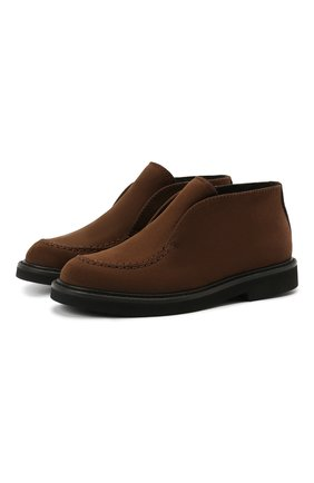 Детские кожаные ботинки MONTELPARE TRADITION коричневого цвета, арт. MT20061/M0RBID0NE/36-41 | Фото 1