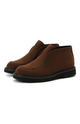 Детские кожаные ботинки MONTELPARE TRADITION коричневого цвета, арт. MT20061/M0RBID0NE/18-27 | Фото 1
