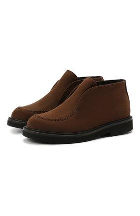 Детские кожаные ботинки MONTELPARE TRADITION коричневого цвета, арт. MT20061/M0RBID0NE/28-35 | Фото 1