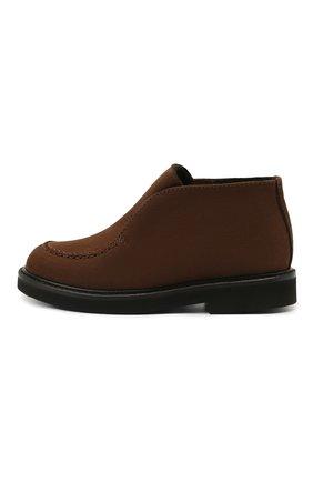Детские кожаные ботинки MONTELPARE TRADITION коричневого цвета, арт. MT20061/M0RBID0NE/28-35 | Фото 2