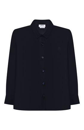 Детская хлопковая рубашка ALETTA синего цвета, арт. AMC210460LR28/9A-16A | Фото 1