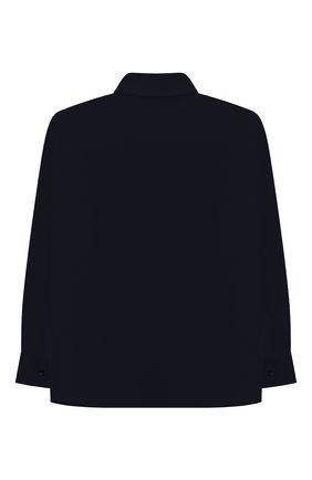 Детская хлопковая рубашка ALETTA синего цвета, арт. AMC210460LR28/9A-16A | Фото 2