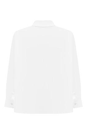 Детская хлопковая рубашка ALETTA белого цвета, арт. AMC210460LR28/6A-8A | Фото 2