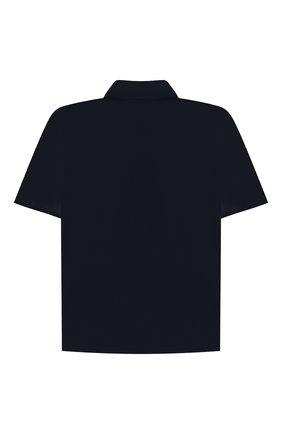 Детская хлопковая рубашка ALETTA синего цвета, арт. AMC210460CR28/9A-16A | Фото 2 (Материал внешний: Хлопок; Рукава: Короткие; Случай: Повседневный; Ростовка одежда: 10 - 11 лет | 140 - 146см, 12 лет | 152 см, 13 - 15 лет | 158 см, 16 лет | 164 см, 9 лет | 134 см)