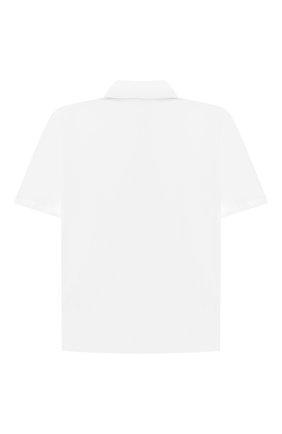 Детская хлопковая рубашка ALETTA белого цвета, арт. AMC210460CR28/6A-8A | Фото 2