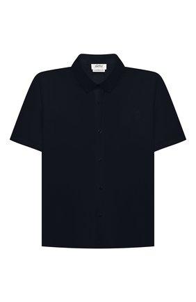 Детская хлопковая рубашка ALETTA синего цвета, арт. AMC210460CR28/6A-8A | Фото 1
