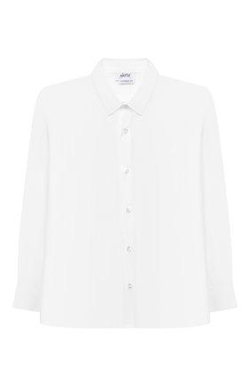 Детская хлопковая рубашка ALETTA белого цвета, арт. AMC210460LR28/9A-16A | Фото 1