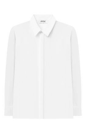 Детская хлопковая рубашка ALETTA белого цвета, арт. AM210437LR-28/9A-16A | Фото 1