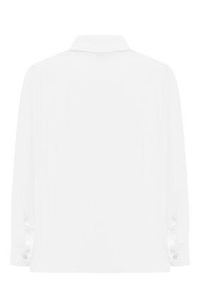 Детская хлопковая рубашка ALETTA белого цвета, арт. AM210437LR-28/9A-16A | Фото 2