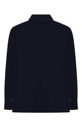 Детская хлопковая рубашка ALETTA синего цвета, арт. AM210437LR-28/9A-16A | Фото 2