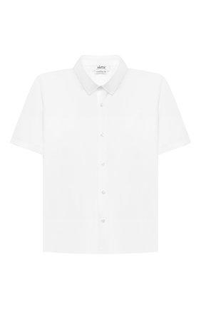 Детская хлопковая рубашка ALETTA белого цвета, арт. AMC210460CR28/9A-16A | Фото 1