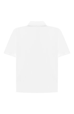 Детская хлопковая рубашка ALETTA белого цвета, арт. AMC210460CR28/9A-16A | Фото 2