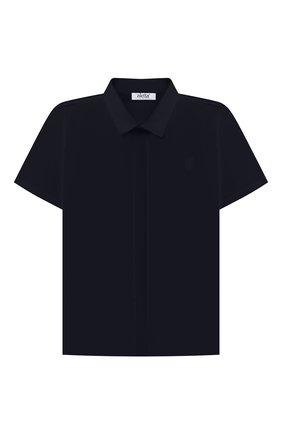 Детская хлопковая рубашка ALETTA синего цвета, арт. AM210437CR-28/4A-8A | Фото 1