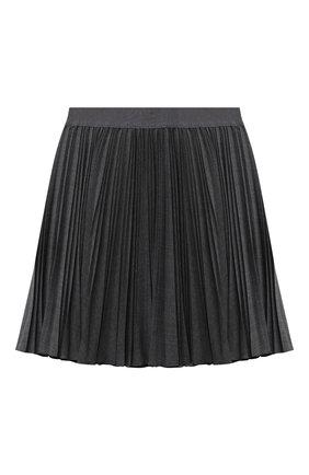 Детская плиссированная юбка ALETTA темно-серого цвета, арт. A210557L-21/9A-16A | Фото 1