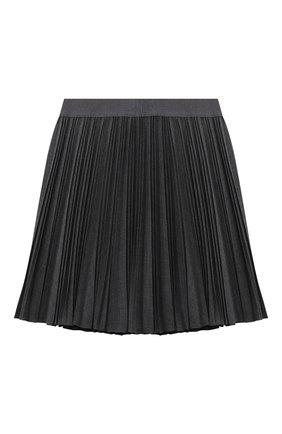 Детская плиссированная юбка ALETTA темно-серого цвета, арт. A210557L-21/9A-16A | Фото 2