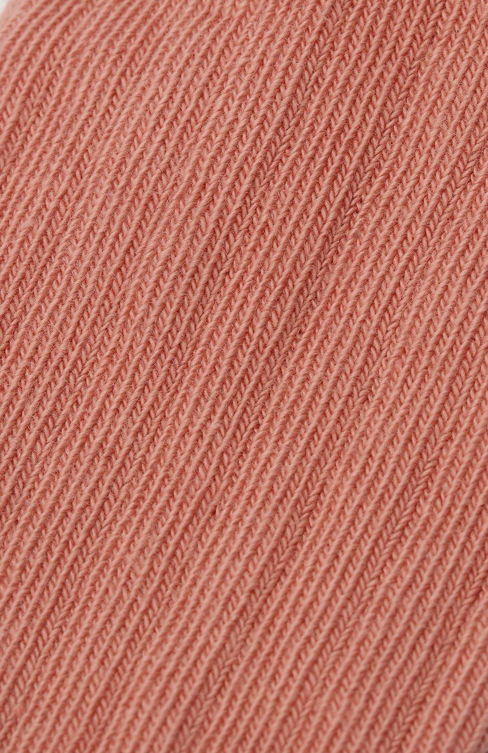 Детские хлопковые носки BONPOINT розового цвета, арт. H20BGICOTFIF(023)_823540   Фото 2 (Материал: Текстиль, Хлопок)