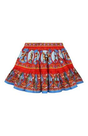 Детская хлопковая юбка DOLCE & GABBANA разноцветного цвета, арт. L53I46/G7VJA/2-6 | Фото 1