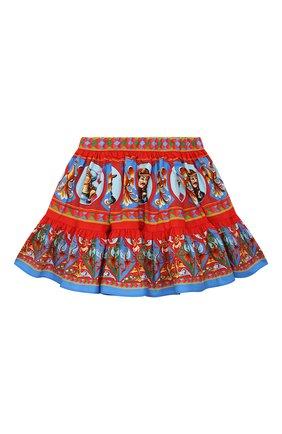 Детская хлопковая юбка DOLCE & GABBANA разноцветного цвета, арт. L53I46/G7VJA/2-6 | Фото 2