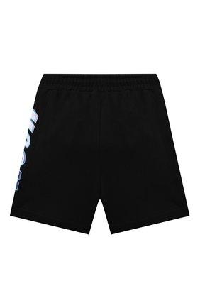 Детские хлопковые шорты MSGM KIDS черного цвета, арт. MS027631   Фото 2