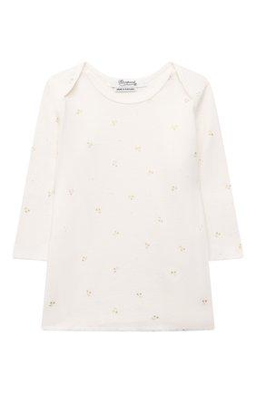 Детский хлопковая пижама BONPOINT белого цвета, арт. PEBTI2318EN(632)_494337   Фото 2