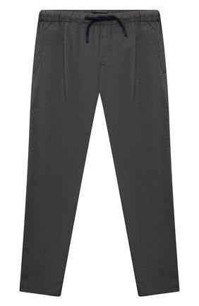 Детские хлопковые брюки EMPORIO ARMANI серого цвета, арт. 6K4PG5/4N4FZ   Фото 1