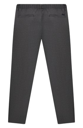 Детские хлопковые брюки EMPORIO ARMANI серого цвета, арт. 6K4PG5/4N4FZ   Фото 2