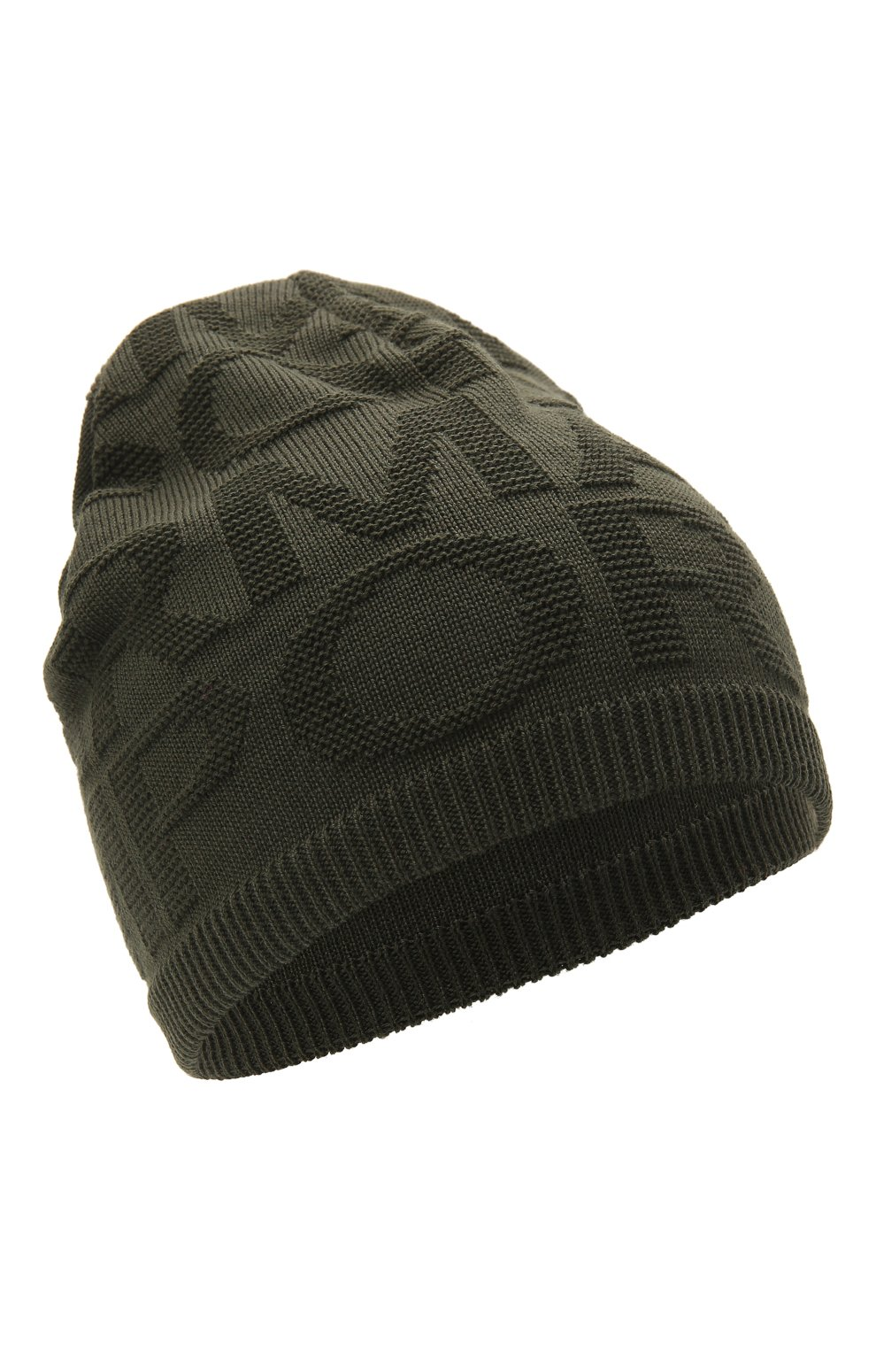 Детский комплект из шапки и шарфа EMPORIO ARMANI хаки цвета, арт. 407512/1A762 | Фото 2 (Материал: Текстиль, Шерсть, Синтетический материал)