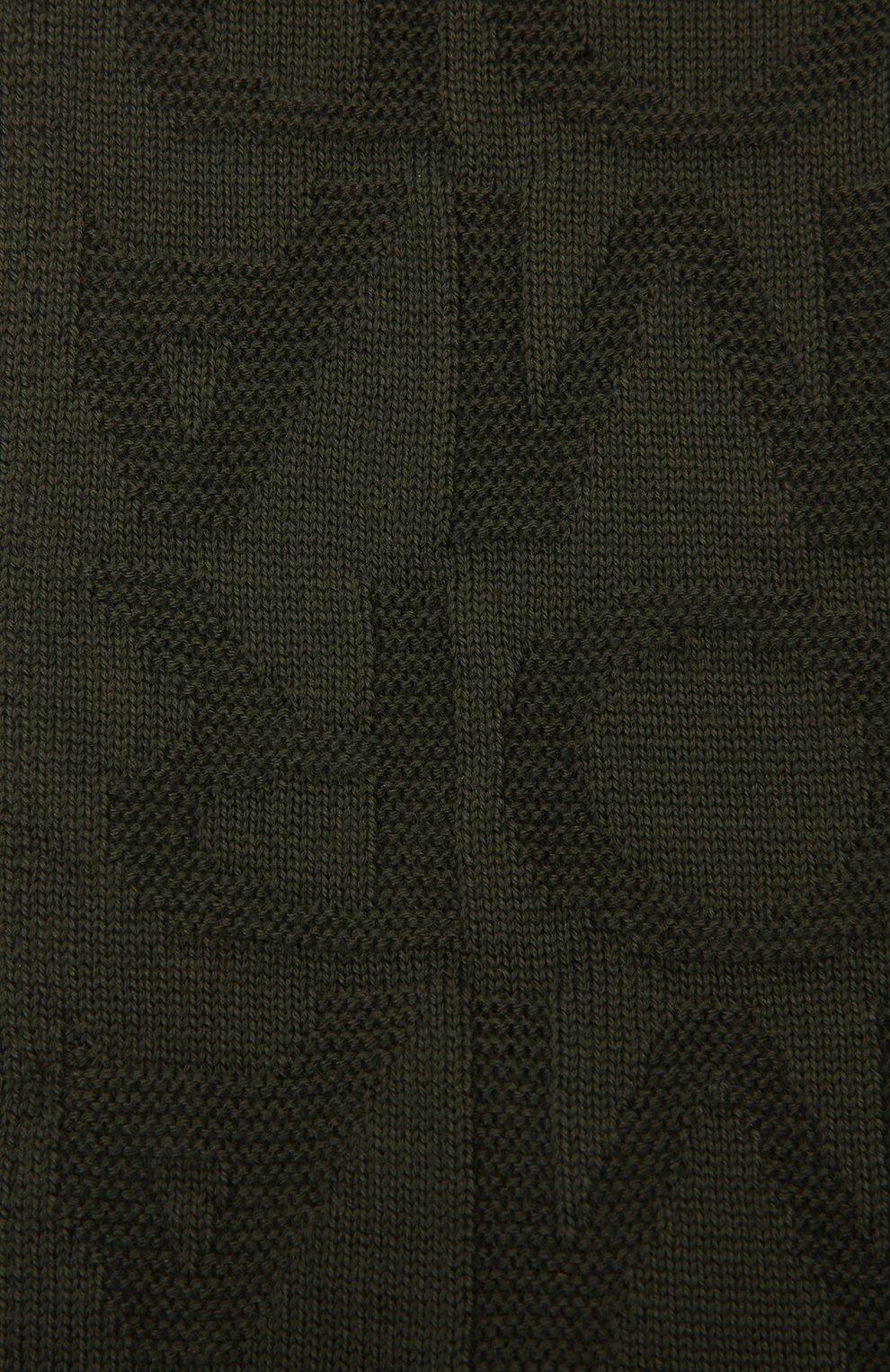 Детский комплект из шапки и шарфа EMPORIO ARMANI хаки цвета, арт. 407512/1A762 | Фото 5 (Материал: Текстиль, Шерсть, Синтетический материал)
