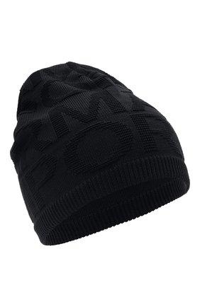 Детский комплект из шапки и шарфа EMPORIO ARMANI синего цвета, арт. 407512/1A762 | Фото 2 (Материал: Текстиль, Шерсть, Синтетический материал)