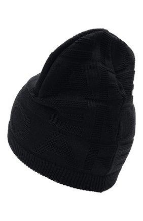 Детский комплект из шапки и шарфа EMPORIO ARMANI синего цвета, арт. 407512/1A762 | Фото 3 (Материал: Текстиль, Шерсть, Синтетический материал)
