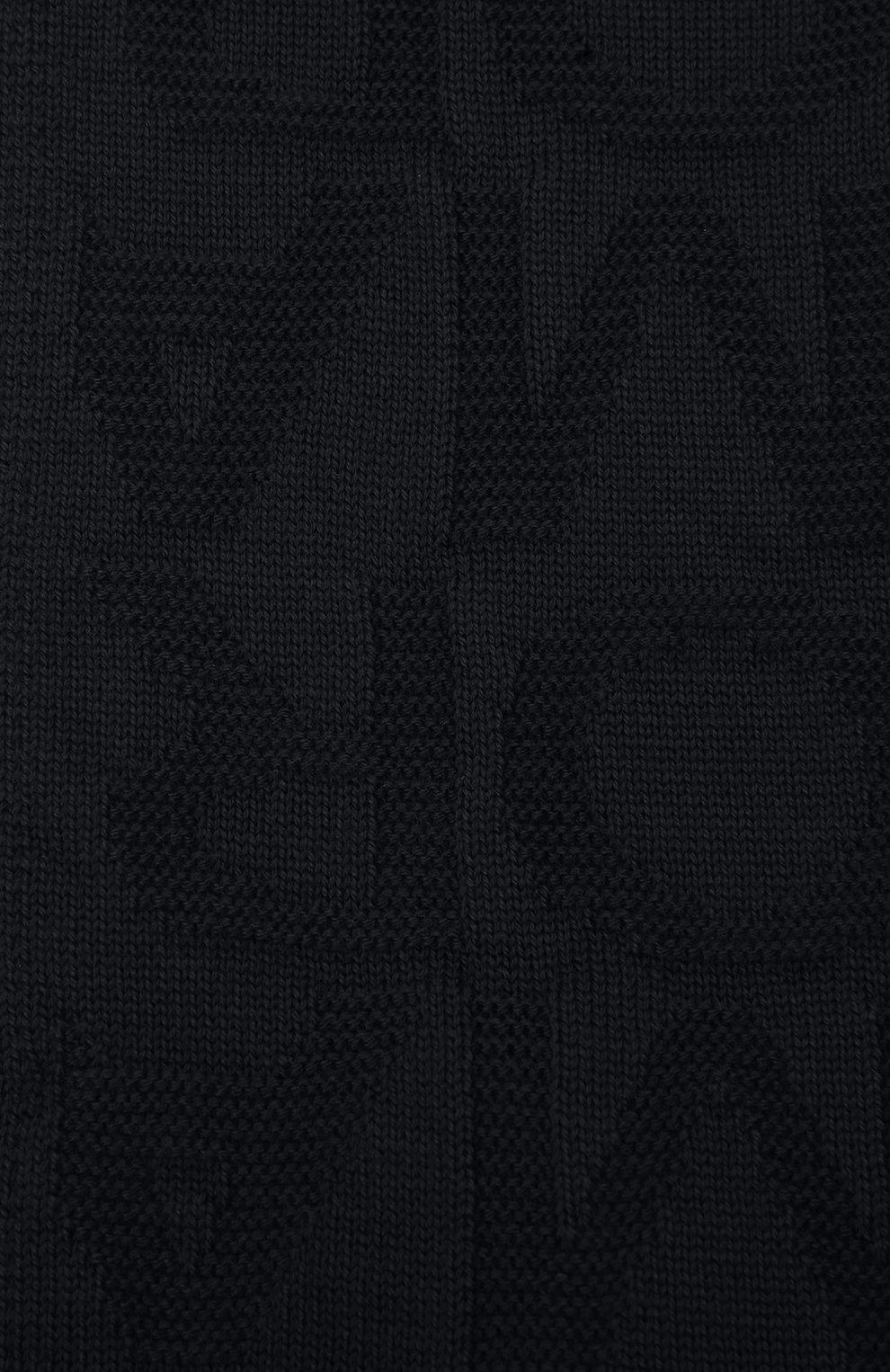 Детский комплект из шапки и шарфа EMPORIO ARMANI синего цвета, арт. 407512/1A762 | Фото 5 (Материал: Текстиль, Шерсть, Синтетический материал)