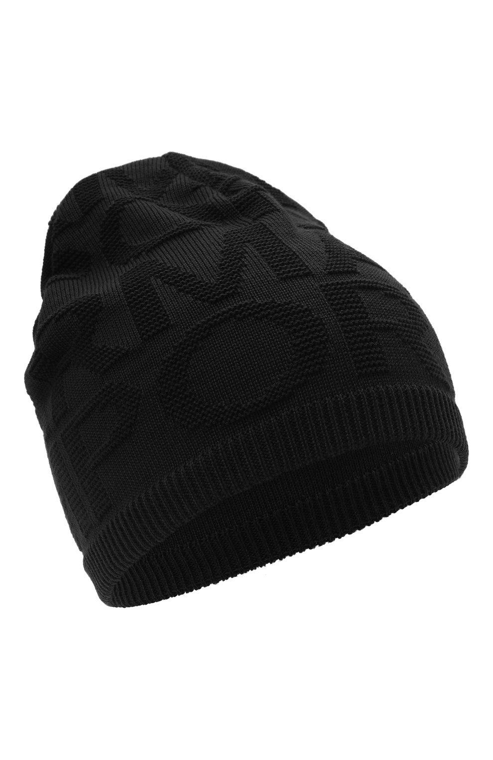 Детский комплект из шапки и шарфа EMPORIO ARMANI черного цвета, арт. 407512/1A762 | Фото 2 (Материал: Текстиль, Шерсть, Синтетический материал)